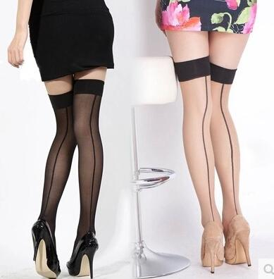 top popular Cheapest Fashion Sexy Womens Over Knee Thigh High Stockings Socks Silk Stocking Free Shipping 2021
