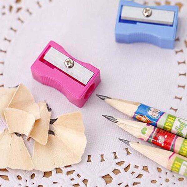 50pcs/lot High Quality Single Holes Pencil Cutter Pencil Sharpener School Office Supplies Creative Free Shipping Material Escolar