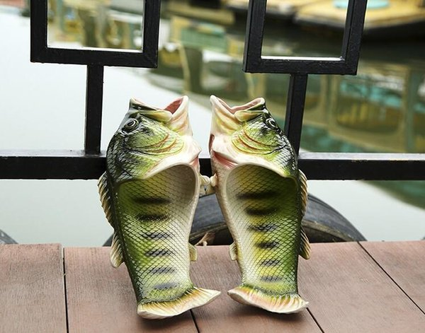 Family sandals 2017 fashion new girl creative fish couple shoes fish cool slippers children beach slippers kids parent-child shoes T4564