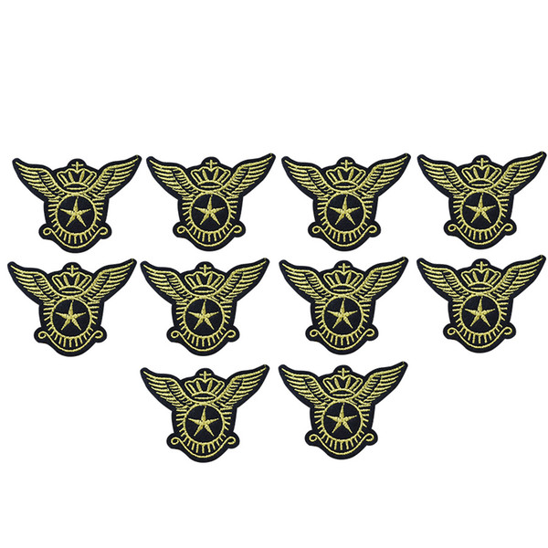 10PCS star wings badge embroidery patches for clothing iron patch for clothes applique sewing accessories on stickers cloth iron on patches
