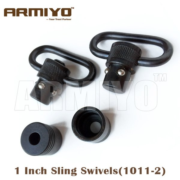 "Armiyo 1"" 1 Inch 25.4mm Hunting Tactical Gun Sling Swivels Fit Most Bolt Action Rifle Airsoft 1011-2"