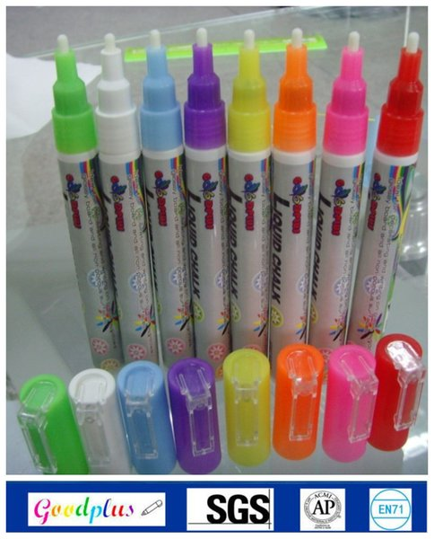 Wholesale-Highlighter Liquid Chalk Marker Pens for School Art Painting 8 Colors Round&Chisel Round top 3mm