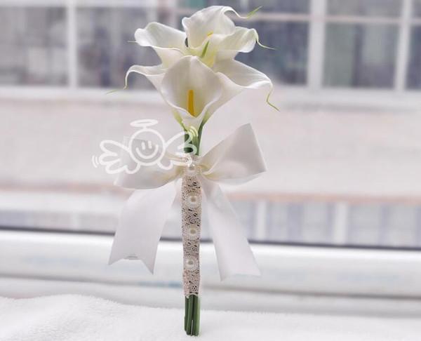 6 pieces calla lily white