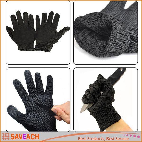 1 paio di guanti protettivi in filo d'acciaio con protezione antigraffio Guanti da lavoro in metallo anti-taglio