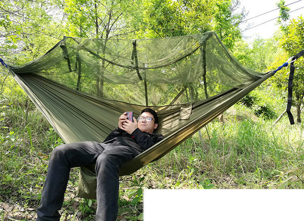 top popular Tree Tents 2 Person Easy Carry Quick Automatic Opening Tent Hammock with Bed Nets Summer Outdoors Air Tents Fast Shipping 2021