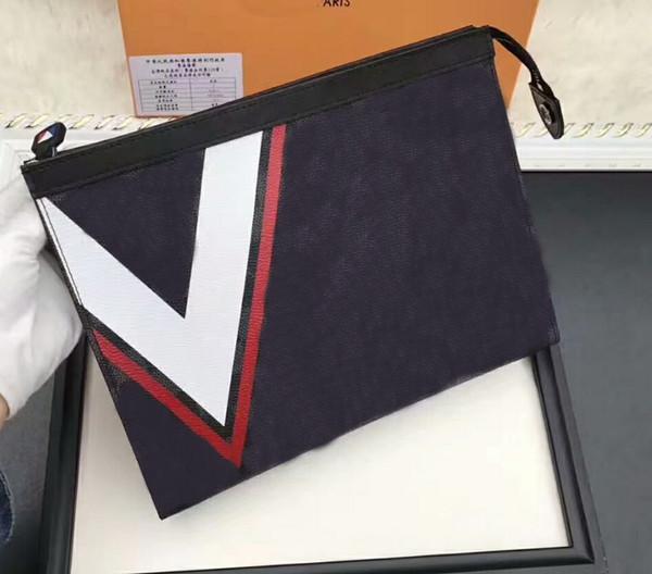 Großhandel Neue Frauen POCHETTE Voyage Tasche Satchel Herren Kartenhalter Tasche Kapsel Brieftasche Echtes Leder V Gaston PURSE CLUTCH GC # 39 Taschen