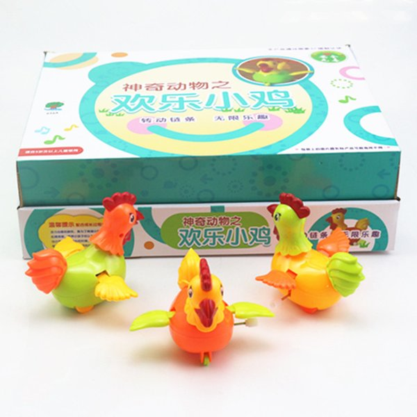 The factory sells children's educational toys, cartoon chains, springs, chickens, chains, jumping, roosters, moving toys
