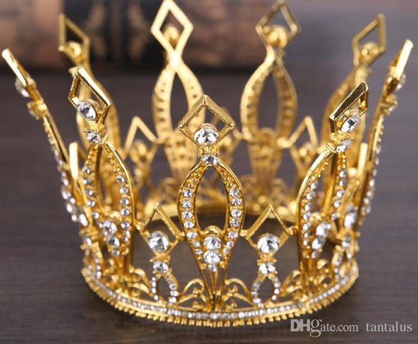 Wedding Rhinestone Bridal Bridesmaid Star Women Girls Gold Plated Crystal Tiara Crown Headband Tiaras &Crowns Hair Jewlery