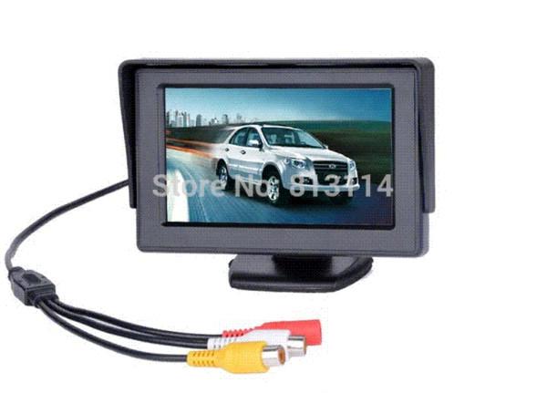 Haute qualité avant voiture 4,3 '480x272 TFT LCD couleur moniteur de recul pour DVD GPS Reverse Backup Camera Livraison gratuite