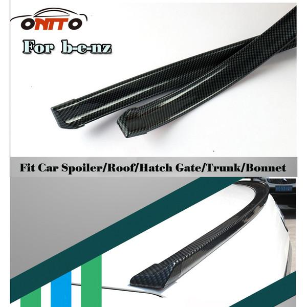 Tail boot coffre voiture 1.5 M voiture bandes décoratives en fibre de carbone PU voiture arrière toit Spoiler Wing Lip Stickers Kit Pour 1.5 M protection auto Spoiler