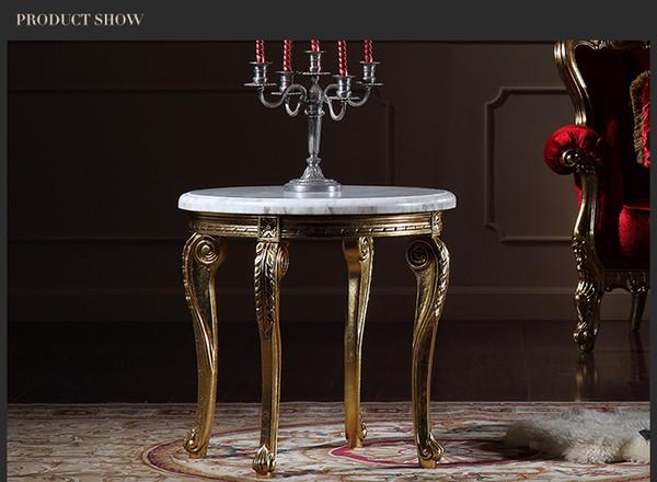 Italienische Klassische Wohnzimmermöbel  Französischer Klassischer  Couchtisch Mit Marmor Top  Italien Runder Couchtisch
