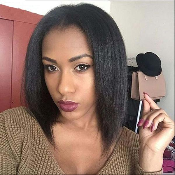 Light Italian Yaki Full Lace Wig 8A Glueless Lace Front Human Hair Wigs With Baby Hair Unprocessed Brazilian Wigs For Black Women