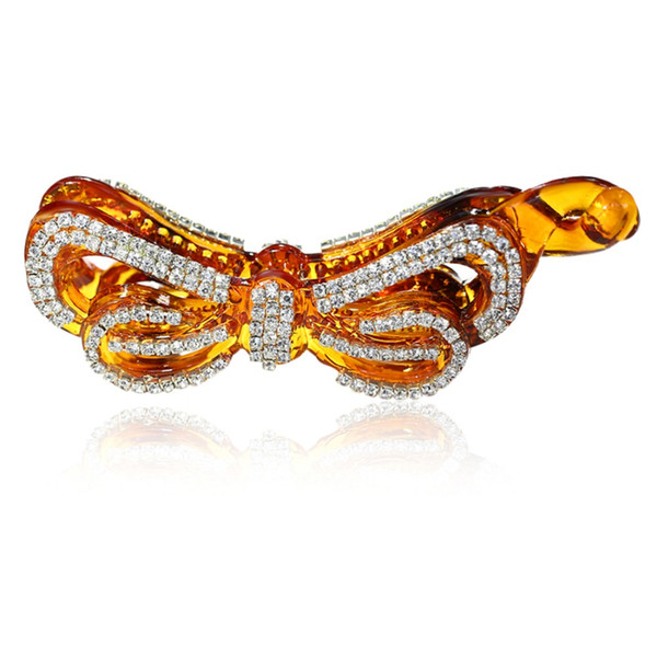 Bow Barrette Womens Hair Accessories Banana Clips Butterfly Hairpin Ponytail Clamp for Girls New Year Gift Black/Brown HC8333
