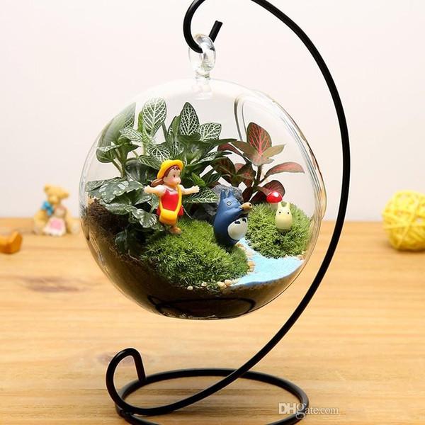 8CM clear Hanging Glass Vase Succulent Air Plant Terrarium Glass Ball Tealight Holders for Wedding Candlestick Home Decor