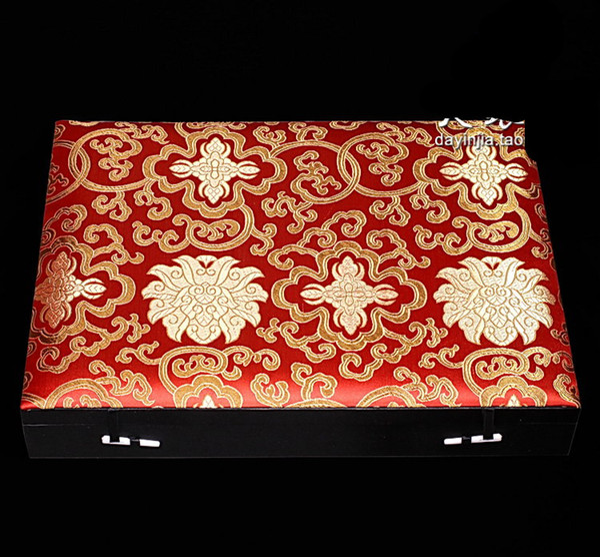 Di alta qualità 6 8 9 12 15 griglia scatola regalo multiuso orologio da polso in legno gioielli scatola di visualizzazione scatola cinese di seta broccato scatole di imballaggio decorativo