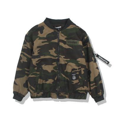 Mens Camouflage Jacket Embroidery Printed Decorative Ribbon Youth Wind BF Harajuku Style Lovers Baseball Uniform For Men Streetwear Coat