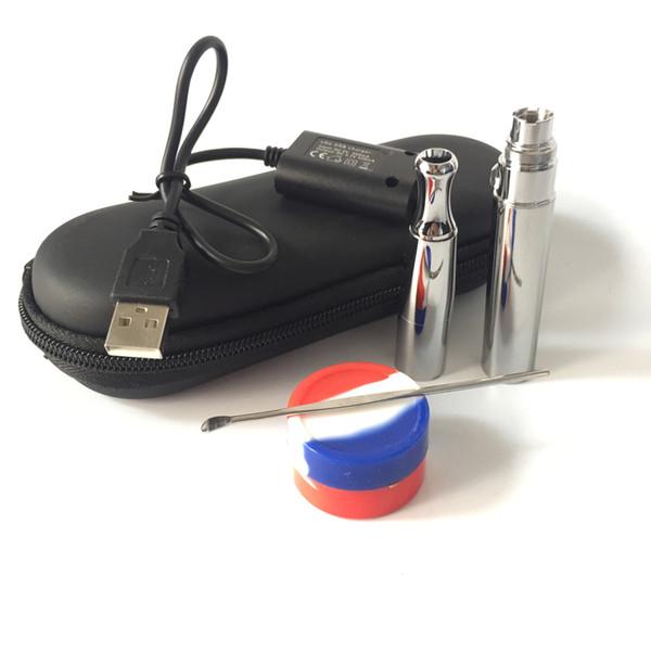 Electronic wax vaporizer puffco vape pen ego pro wax concentrate burning device atomizer e solid attachment wax oil e cig vape starter kits