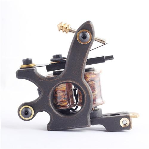 Top Selling 2PCS/Lot Tattoo Machine 10 Laps Coils Handmade Tattoo Gun For Shade and Liner Free Shipping