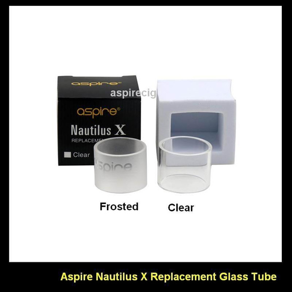 100% Original Aspire Nautilus X Replacement Pyrex Glass Tube Replacement Glass Tube for Aspire Nautilus X Tank Atomizer Clear & Frosted
