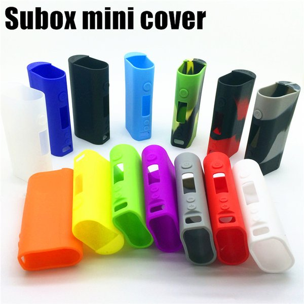 Vente en gros Subox Mini Silicone housse Sac Coloré Caoutchouc Manches Housse de protection Gel de silice Peau Pour Kanger Subox mini 50w Box Mod
