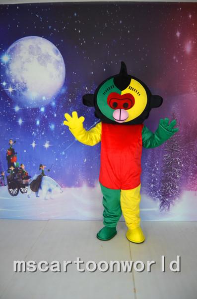 Hot new Monkey Race Lei mascotte costumi costume in maschera di carnevale di Natale Halloween party anime