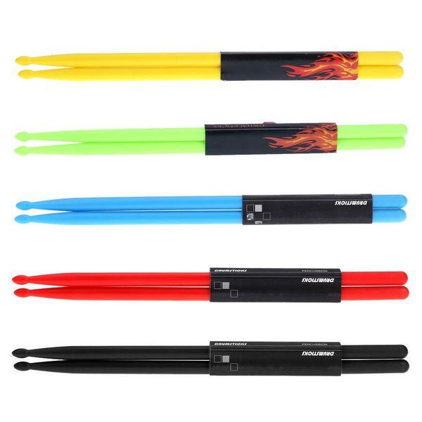 top popular Durable jazz shelves drumstick color drumstick 5A nylon drum stick instrument accessories wholesale musical instruments 2021