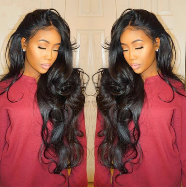 Brazilian Body Wave Pre Plucked Full Lace Wig 130% Density Swiss Lace wig Remy Human Hair Wigs for Black Women G-EASY