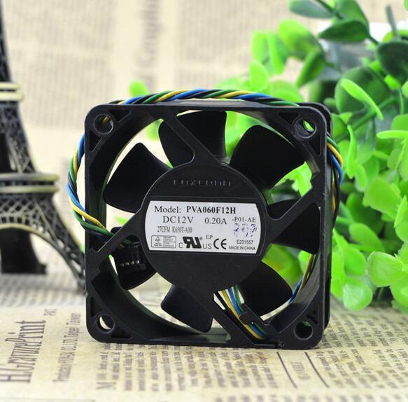 Foxconn 60*60*20 6CM 12V0.20A PVA060F12H four PWM copper line speed control hydraulic fan
