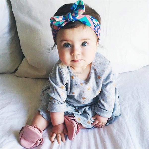 Vendas del bebé Lindo Bohemain Style Orejas de conejo Colorful Breve Moda Infant Head Diadema Baby Girls Lovely Head Band