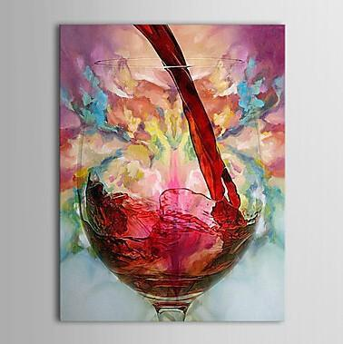 Framed Red Wine Cup,Pure Handpainted Still Life Art Oil Painting,For Home Wall Decor on High Quality Canvas size can be customized
