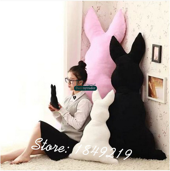 Dorimytrader 59'' / 150cm Large Plush Stuffed Cartoon Sketch Rabbit Toy Big Back Bunny Doll Pillow Nice Baby Gift Free Shipping DY61192