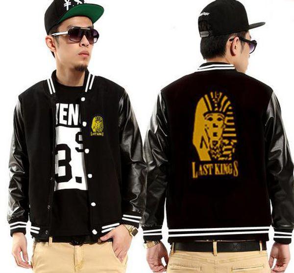 06e5fd358ab3 Последние короли мужские куртки хип-хоп флис верхняя одежда пальто  фирменное наименование Мужская одежда кожаная