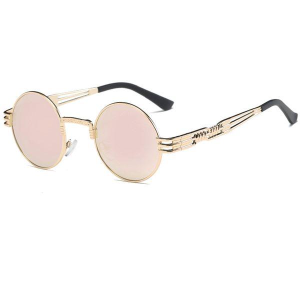 C9 Gold Frame Pink Mirror