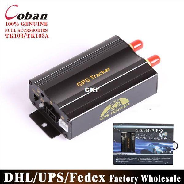 DHL/FEDEX 10PCS Coban Car GPS Tracker GSM GPRS Vehicle Tracker Device TK103 Quad Tracking System Free Web Platform Service