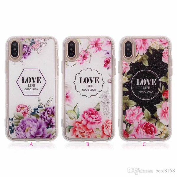 Anti Gravity Case For iphone X 8/7/Plus/6 /SE Love Flower Rose Nano Technology TPU Selfie Stick Grip Magic Suction Cover