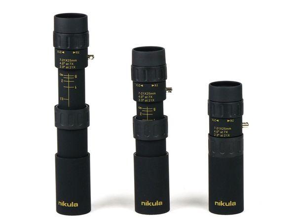 Binóculos originais Nikula 10-30x25 Zoom Monocular telescópio de alta qualidade Binoculo Bolso Caça Optical Prism Scope nenhum tripé 1 pc