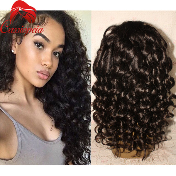 130% Density Unprocessed Virgin Peruvian Full Lace Wigs /Lace Front Wigs Right-Side Part Body Wave 8A Glueless Full Lace Human Hair Wigs