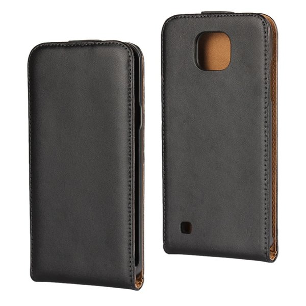 For Sony Ericsson Xperia XZ3 XA LG X Cam Genuine Real Flip Leather Pouch Case Vertical Black Smooth Cell Phone Purse Skin Cover Luxury 50pcs