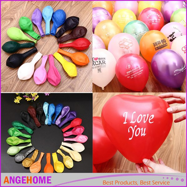 wholesale Custom Pattern logo advertising Balloons Latex Party Decorations Spiral Balloons Supplies wedding balloon 100 pcs/pack