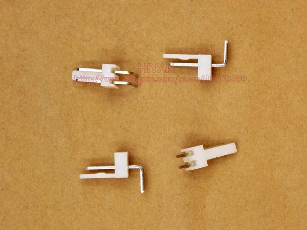 (100 sets / lote) conector KF2510 2510 2Pin 90 grados Inclinación: 2.54MM 0.1inch Pin Header + Terminal + Housing