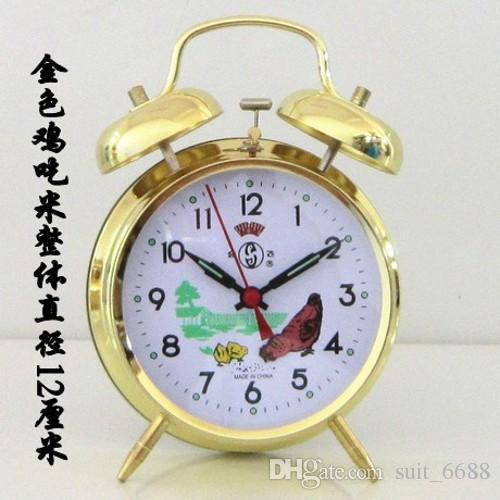 Fly together every day special mechanical clockwork alarm clock vintage retro metal clock manually pull its weight shipping creative student
