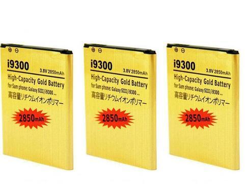 2850mAh EB-L1G6LLU Batteria d'oro per Samsung Galaxy S3 I9300 I535 I710 L710 T999 Galaxy Victory 4G LTE L300 Batterie Bateria
