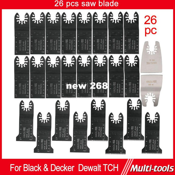 best selling 26 pcs quick change saw blades for most oscillating multi Tools as Fein multimaster,Dremel ,DIY,good power tool accessories