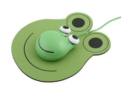 best selling Lovely Frog Shaped USB Mouse for Computer Laptop Fashion Cartoon Frog Prince Mouse 3D Wired Optical Mice Home &Office unique frog Mouse gift