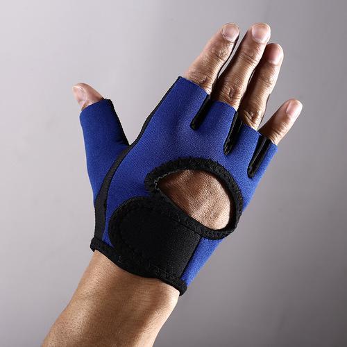 Neue 1 Paar Half Finger Männer Frauen Fitness Handschuhe Anti-Rutsch-Schutz Radfahren Handschuhe Atmungsaktive SBR Rubber Short fingerless Radfahren Handschuhe