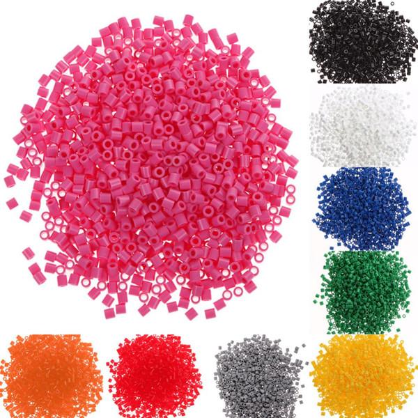 5mm 9 Colores Hama Perler Beads EVA Niños Niños DIY Fabricación de Mano Fuse Bead Inteligencia Juguetes Educativos Artesanía