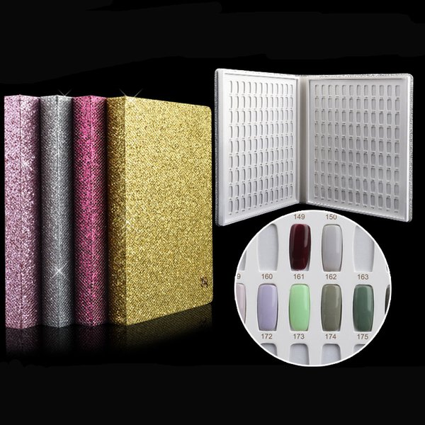 2017 Newest 216 Colors Nail Gel Polish Display Book Chart & Natural Nail Art Salon set