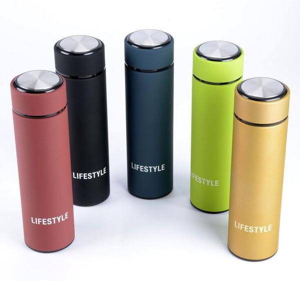 LIFE 2016 nouvelle qualité 5 couleurs élégant 304 double-pont en acier inoxydable thermos tasse boisson bouteille d'eau respectueux de l'environnement