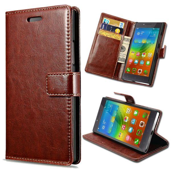 Gros-Pour Lenovo P70 Wallet flip Housse en cuir pour Lenovo P70 P70t Flip Phone Cover Fundas Coque Design de Stands avec fente pour carte
