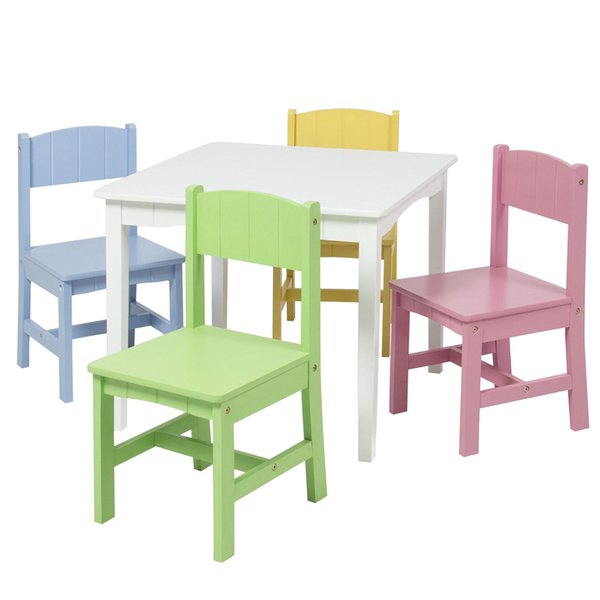 Super 2019 Wooden Kids Table And 4 Chairs Set Furniture Play Area School Home From Hongxinlin21 75 37 Dhgate Com Machost Co Dining Chair Design Ideas Machostcouk